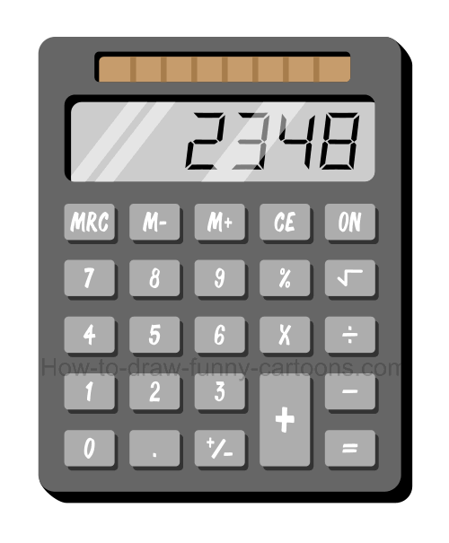 Calculator clipart drawing. How to draw a