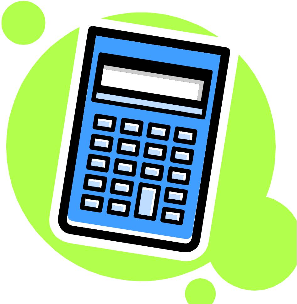 Math . Calculator clipart equipment