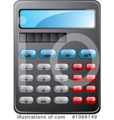 Illustration by vector tradition. Calculator clipart finance