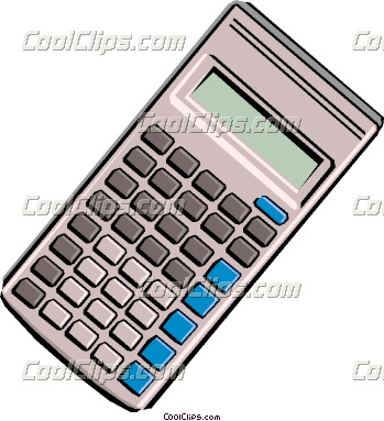 Vector clip art. Calculator clipart financial calculator