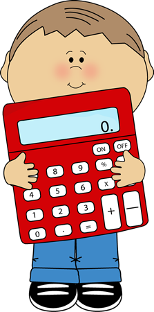 collection of math. Calculator clipart fun