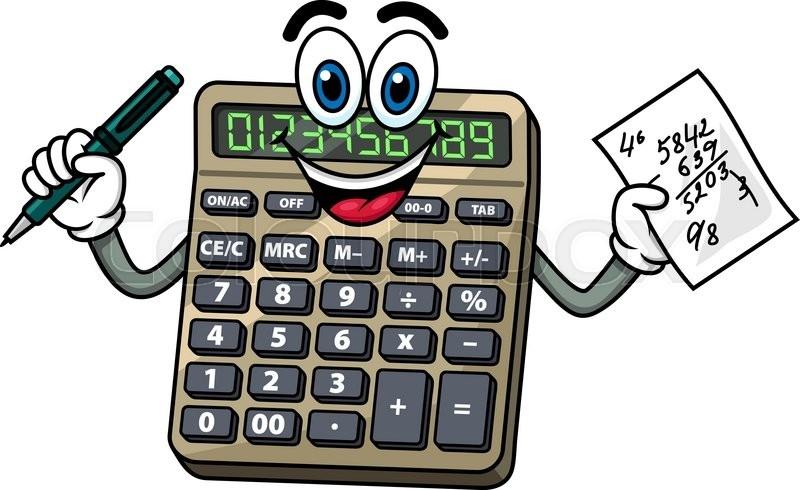 Calculator clipart fun. Square roots without a