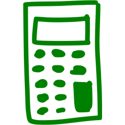 Calculator clipart green. Icon free icons