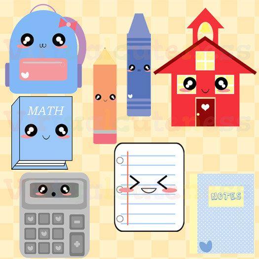 Cute school stationary clip. Calculator clipart kawaii