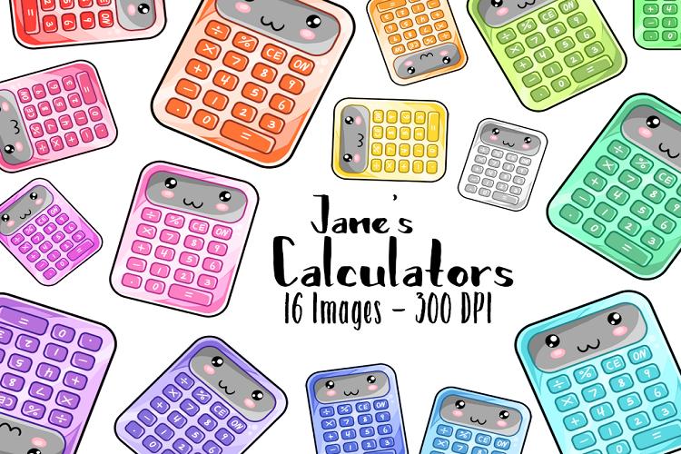 . Calculator clipart kawaii