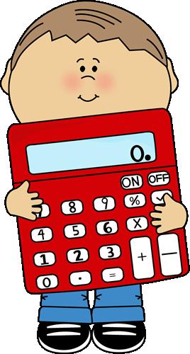 Holding calculator clip art. Addition clipart kid