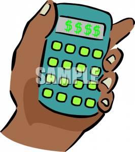 Calculator Clipart Money
