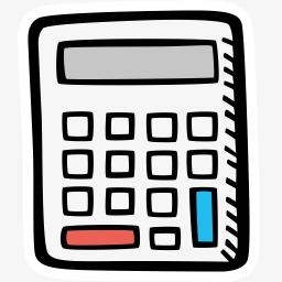 Calculator clipart office items. Cartoon stick figure electronic