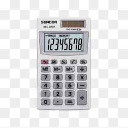 Calculator clipart office items. Math count supplies png
