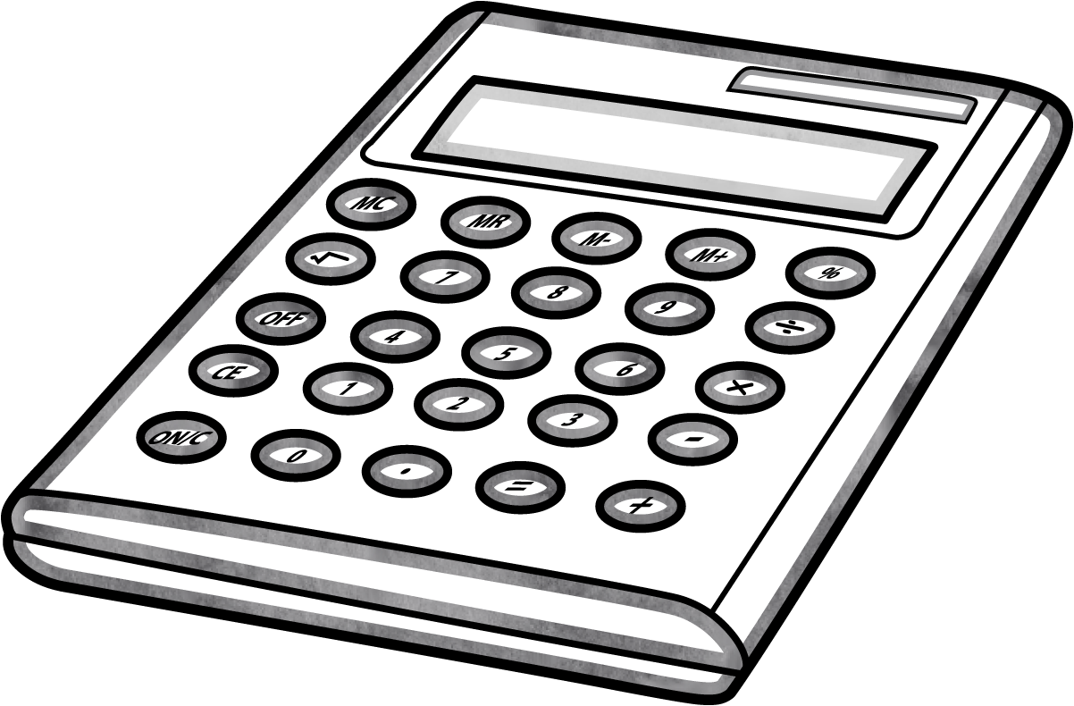 Equipment academic technology launchpad. White clipart calculator