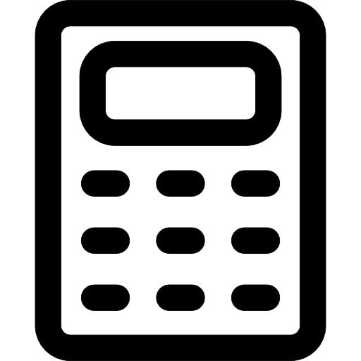 Calculator clipart outline. Icon page
