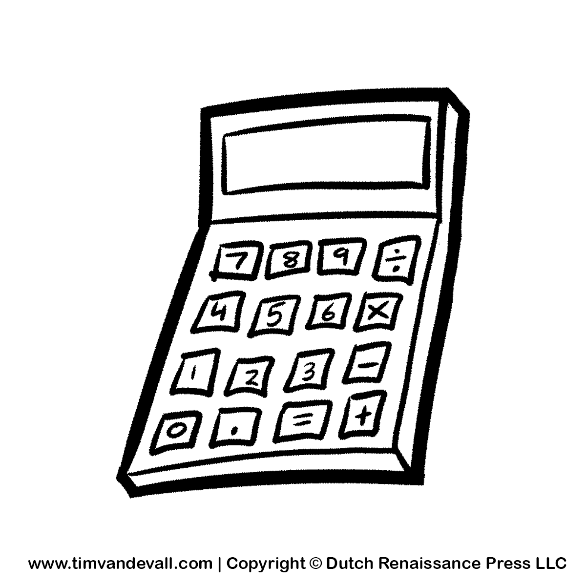 Calculator clipart outline.  collection of black