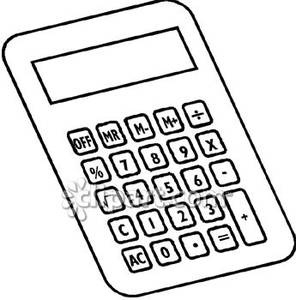 Best of black and. Calculator clipart outline