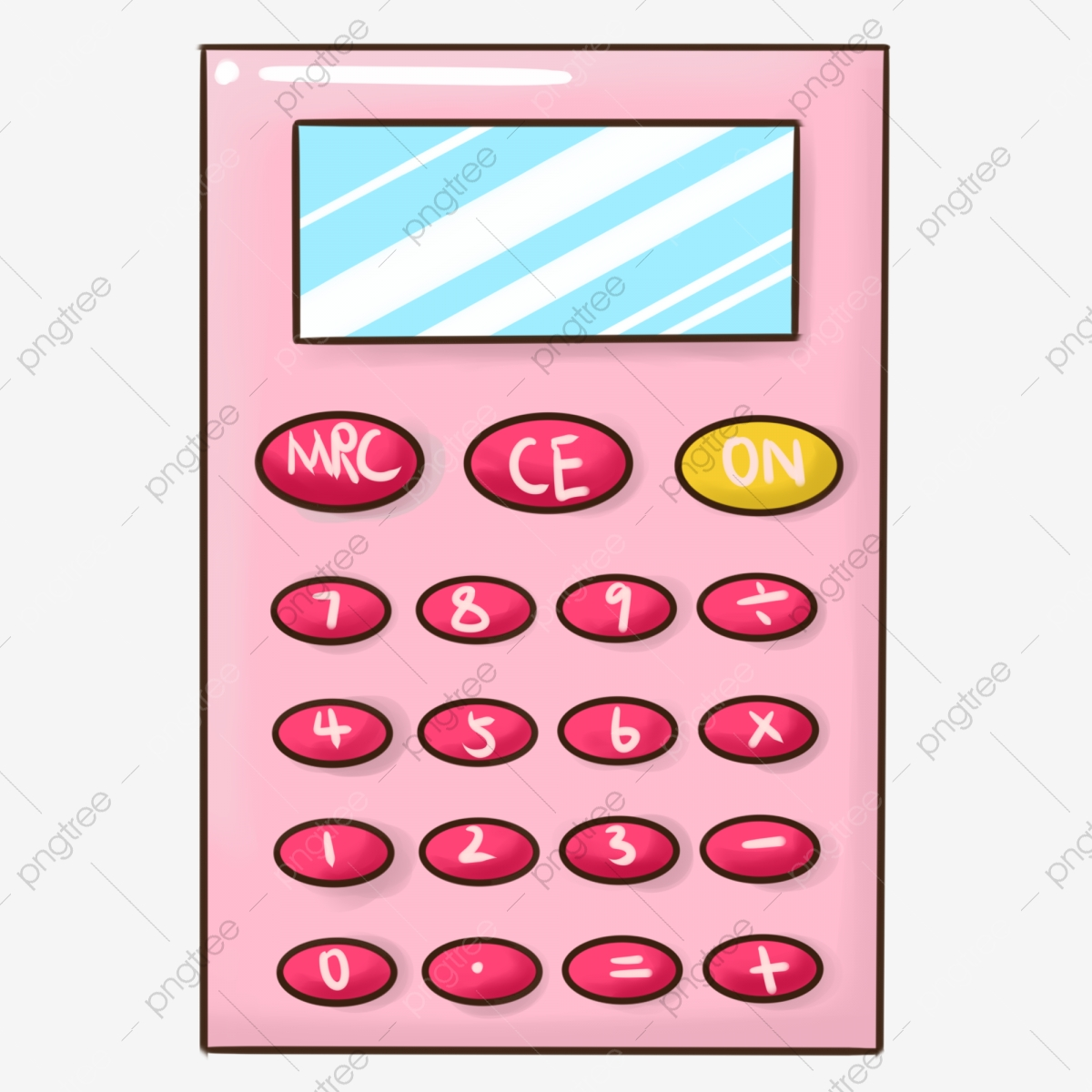 Calculator clipart pink. Red keyboard cartoon illustration