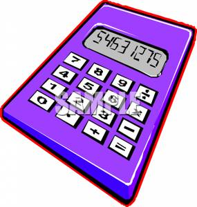 Calculator clipart purple. Numbers on a picture