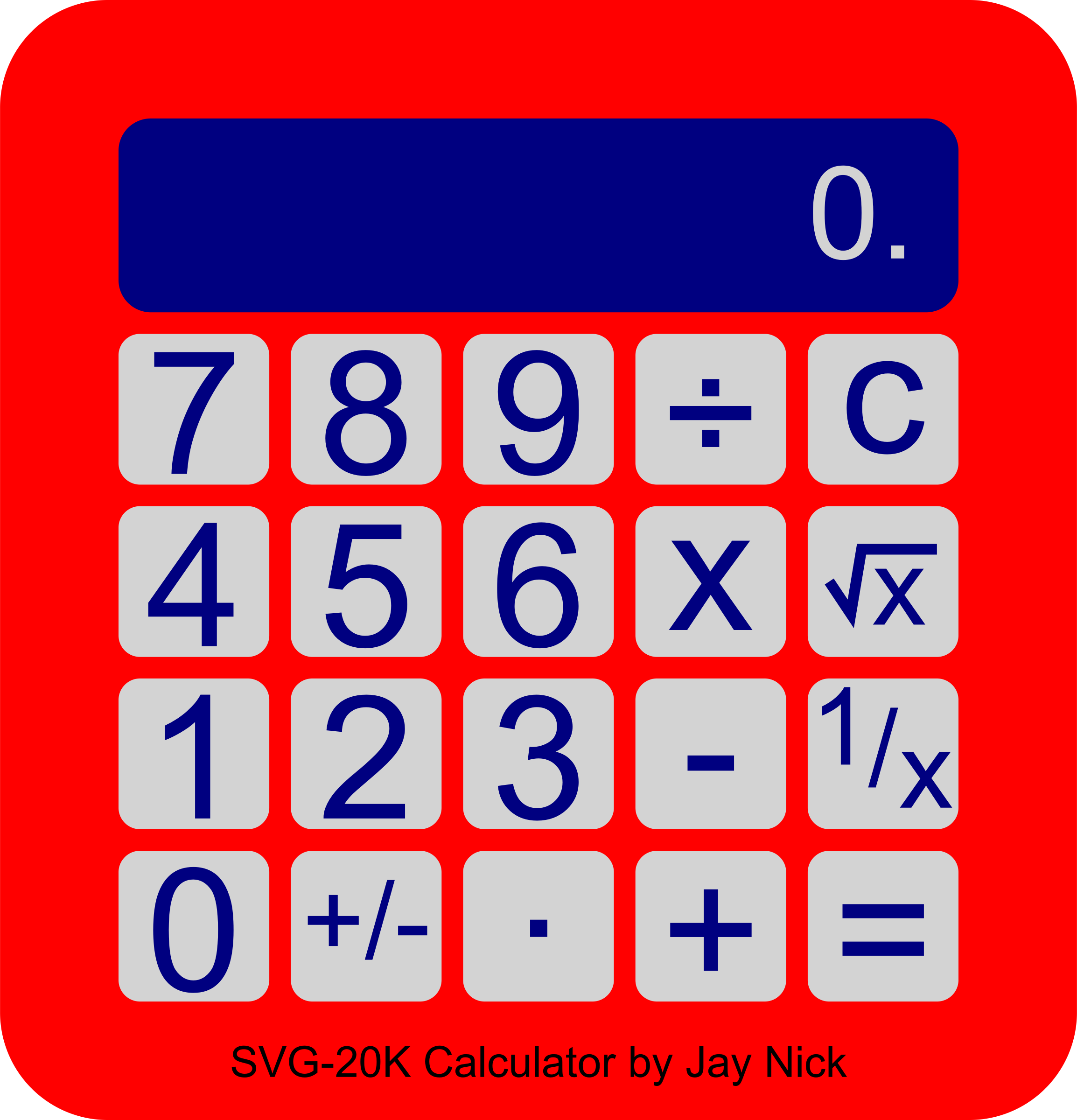 Calculator clipart red. Scripted big image png