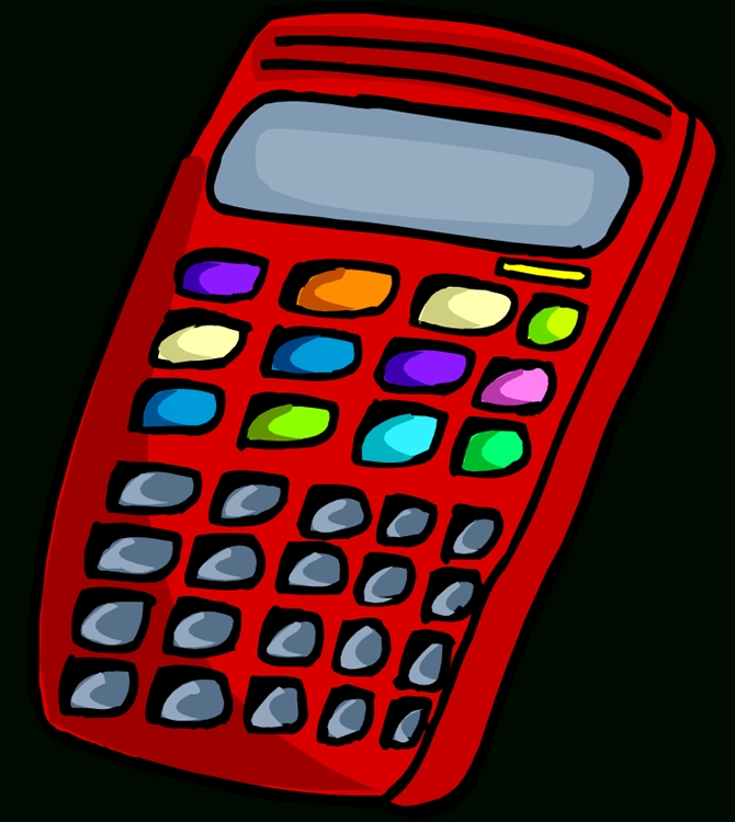 Calculator clipart red. Scientific letters clipground with