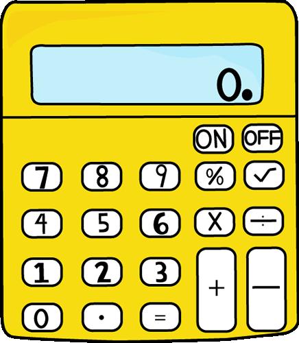 Yellow Calculator Clip Art