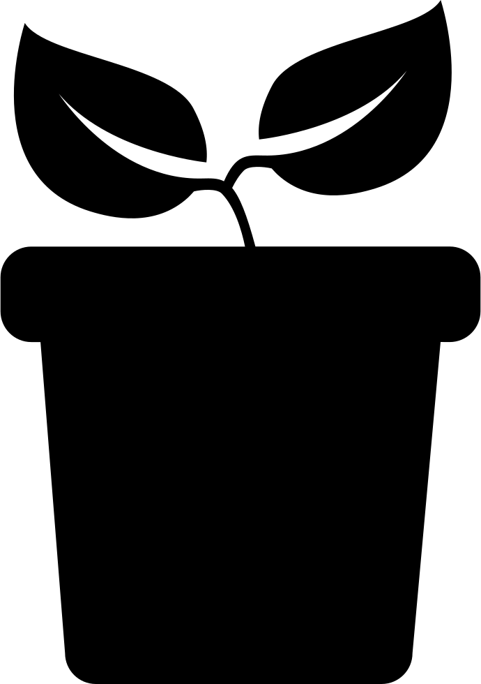 Plant with two leaves. Calculator clipart side view