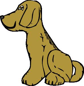 dog sitting clipart
