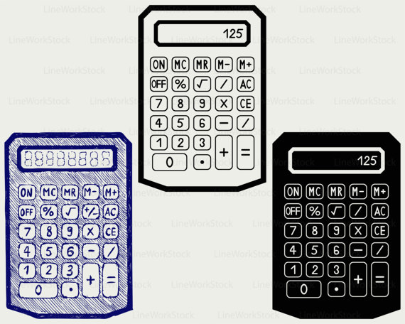 Svg svgcalculator clipartcalculator cricut. Calculator clipart silhouette
