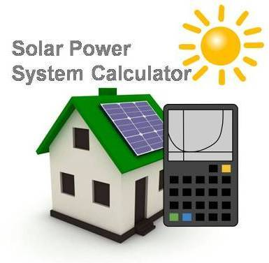 Calculator clipart solar calculator. Power system cost for
