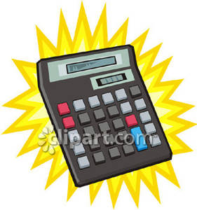 Big power royalty free. Calculator clipart solar calculator