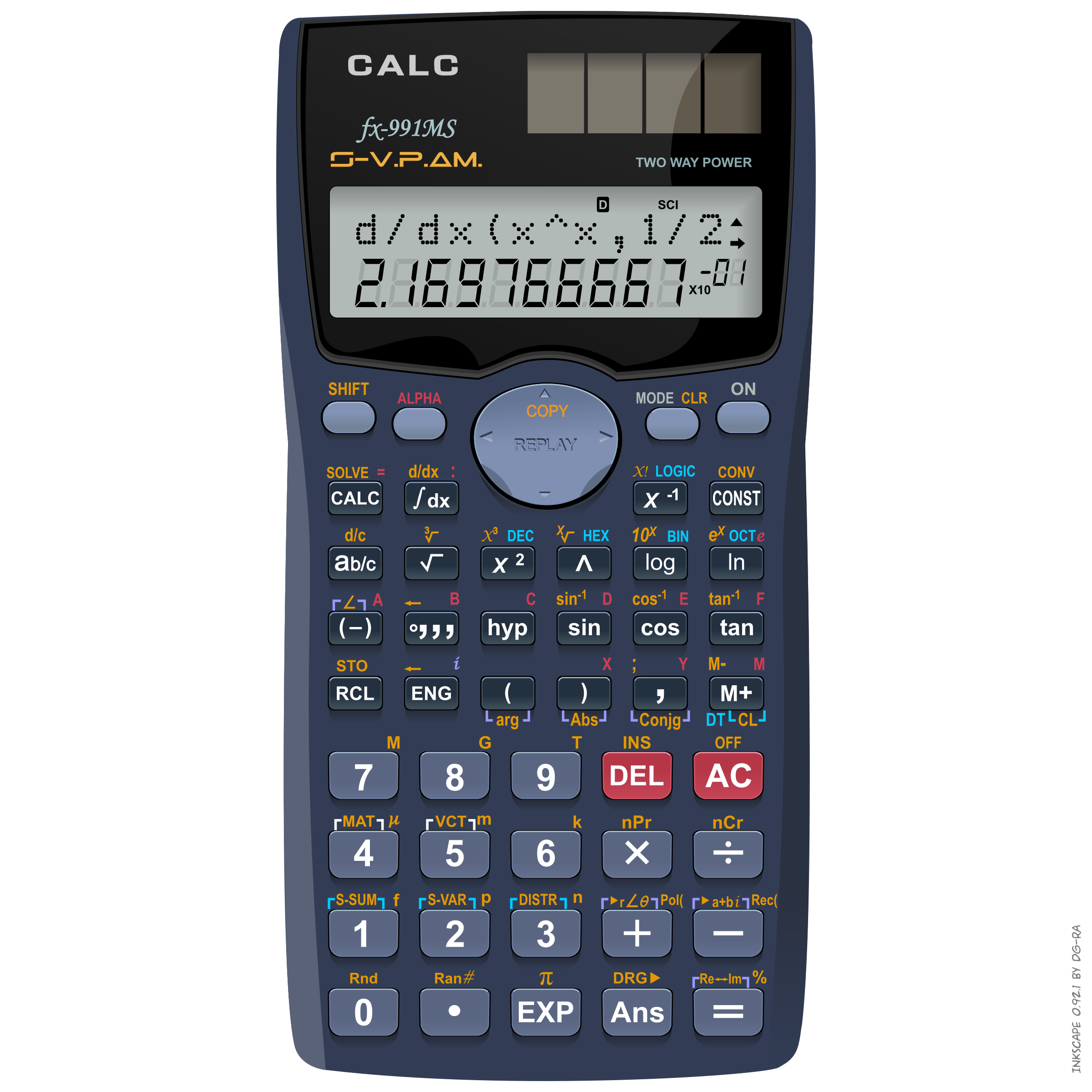 Scientific calc fx ms. Calculator clipart solar calculator