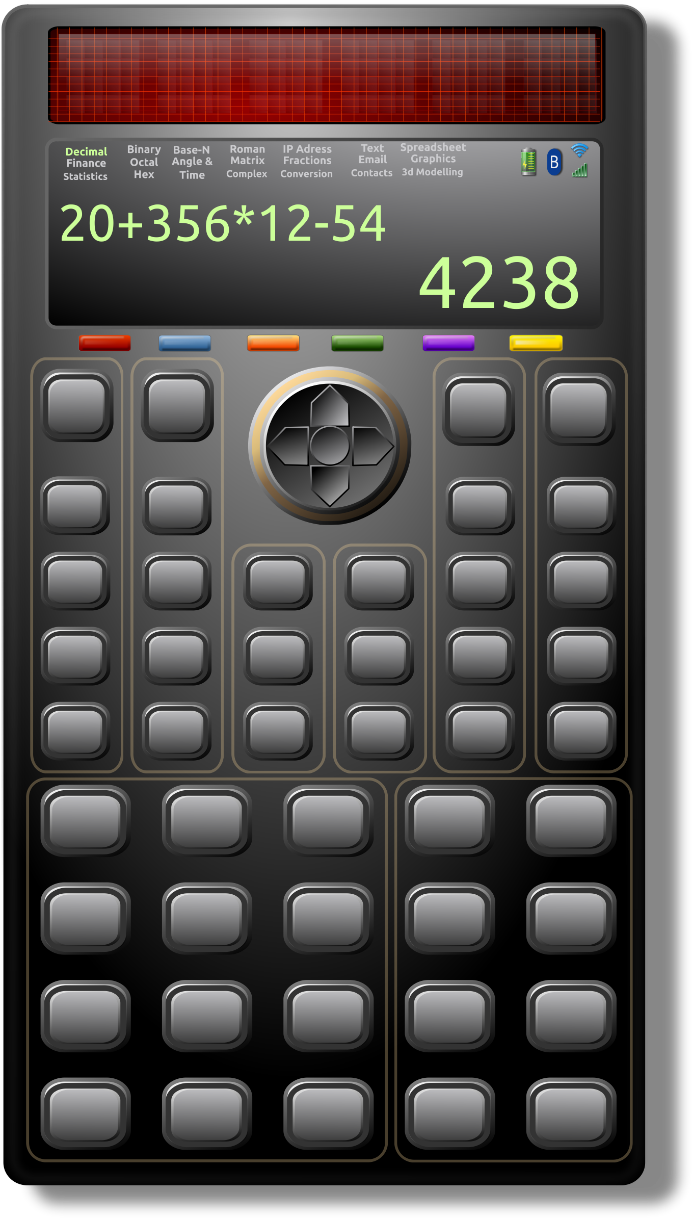 Calculator clipart solar calculator. Scientific big image png