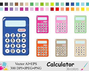 Calculator clipart supply. School supplies clip art