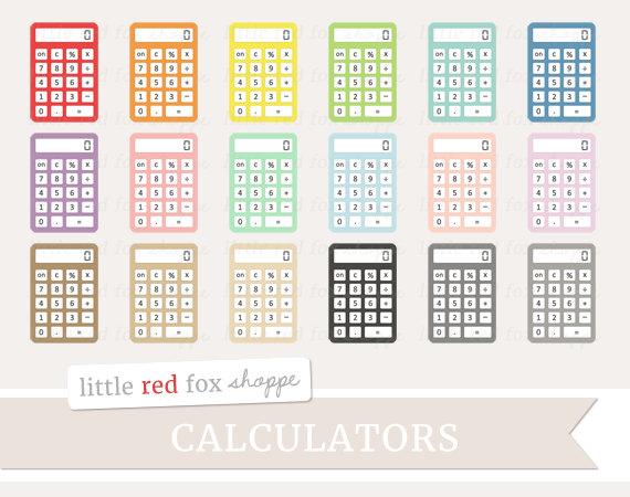 Math clip art office. Calculator clipart supply