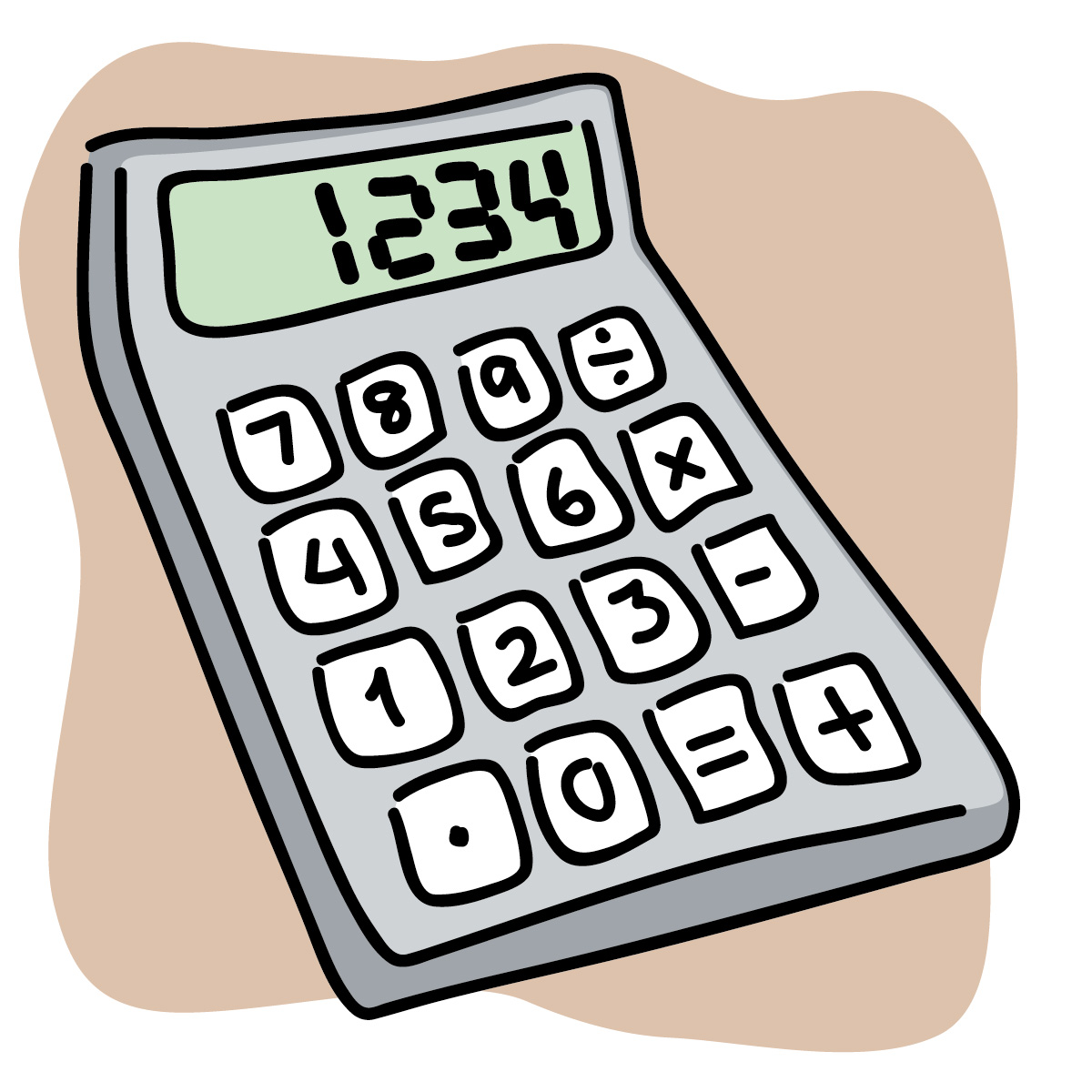 Calculator clipart supply.  collection of cute