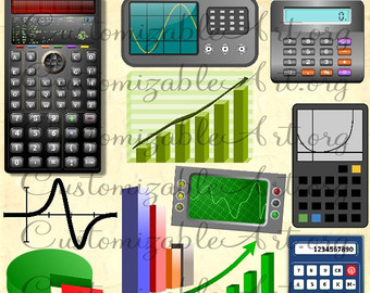 Eye digital clip art. Calculator clipart supply