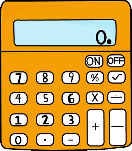 Orange Calculator Clip Art