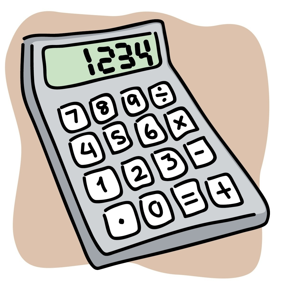 Calculator clipart. Letters pertaining to
