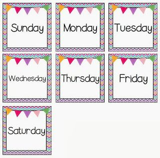 best numbers labels. Calendar clipart 7 day