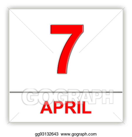 Stock illustration april on. Calendar clipart 7 day