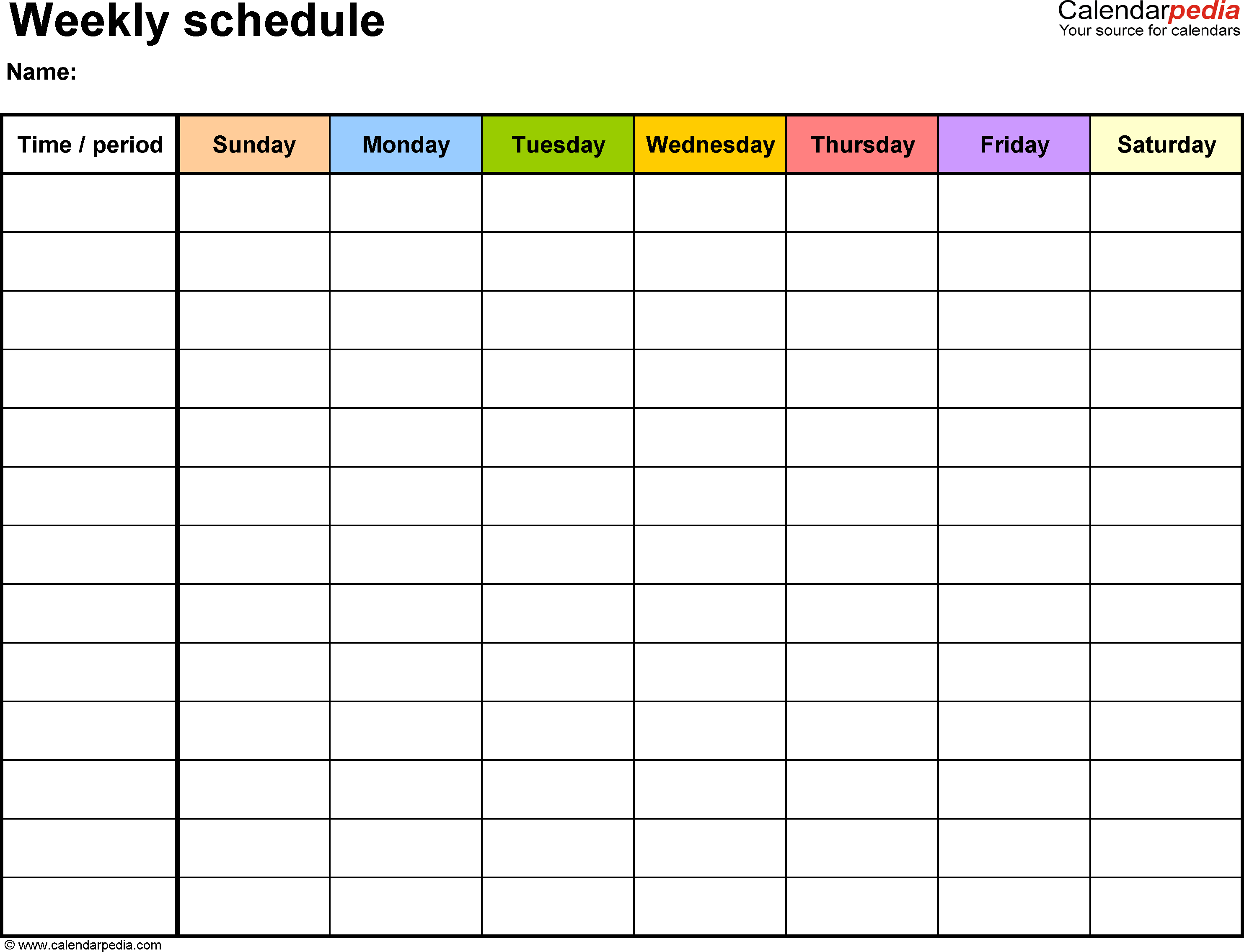 Calendar clipart 7 day.  schedule maker incep