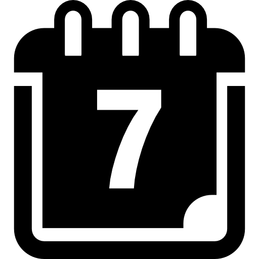 Clipart calendar 7 day. Page on icons free