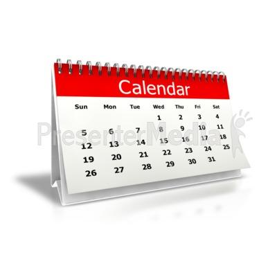 Desk Calendar Animated Clipart
