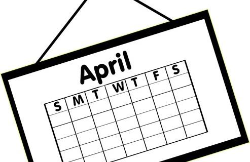 collection of high. Calendar clipart april