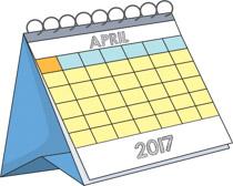 Calendar clipart april 2017. Free clip art pictures