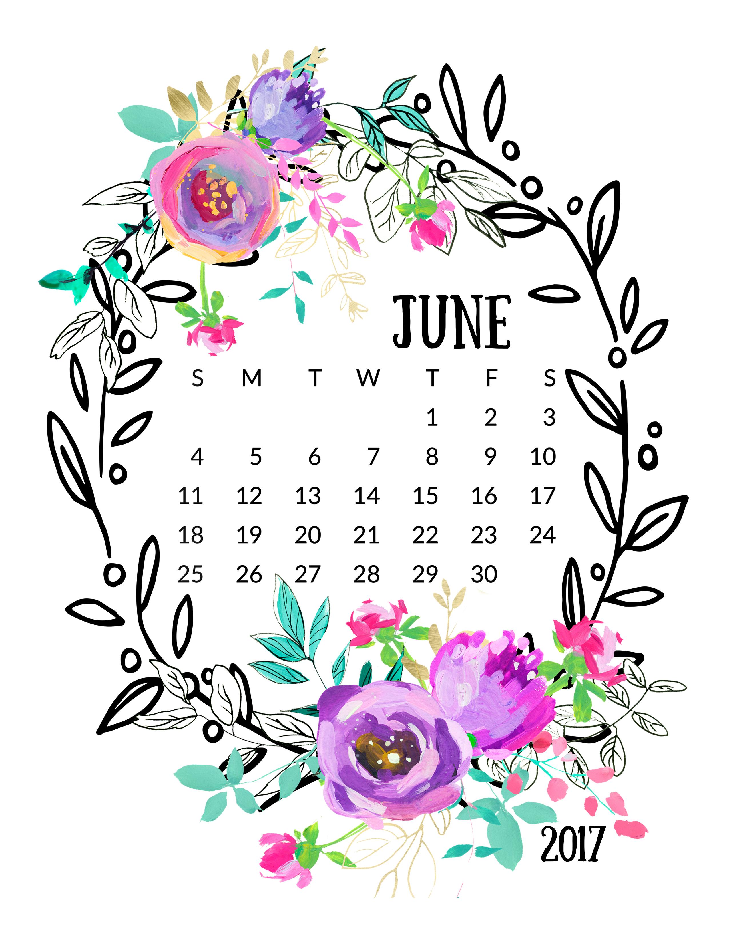 Calendar clipart april 2017. Mint and purple free