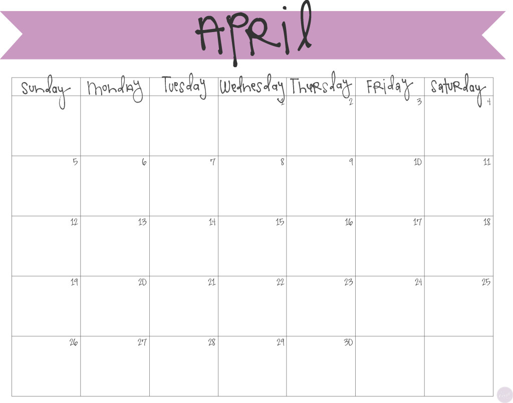 Printable with notes . Calendar clipart april 2017