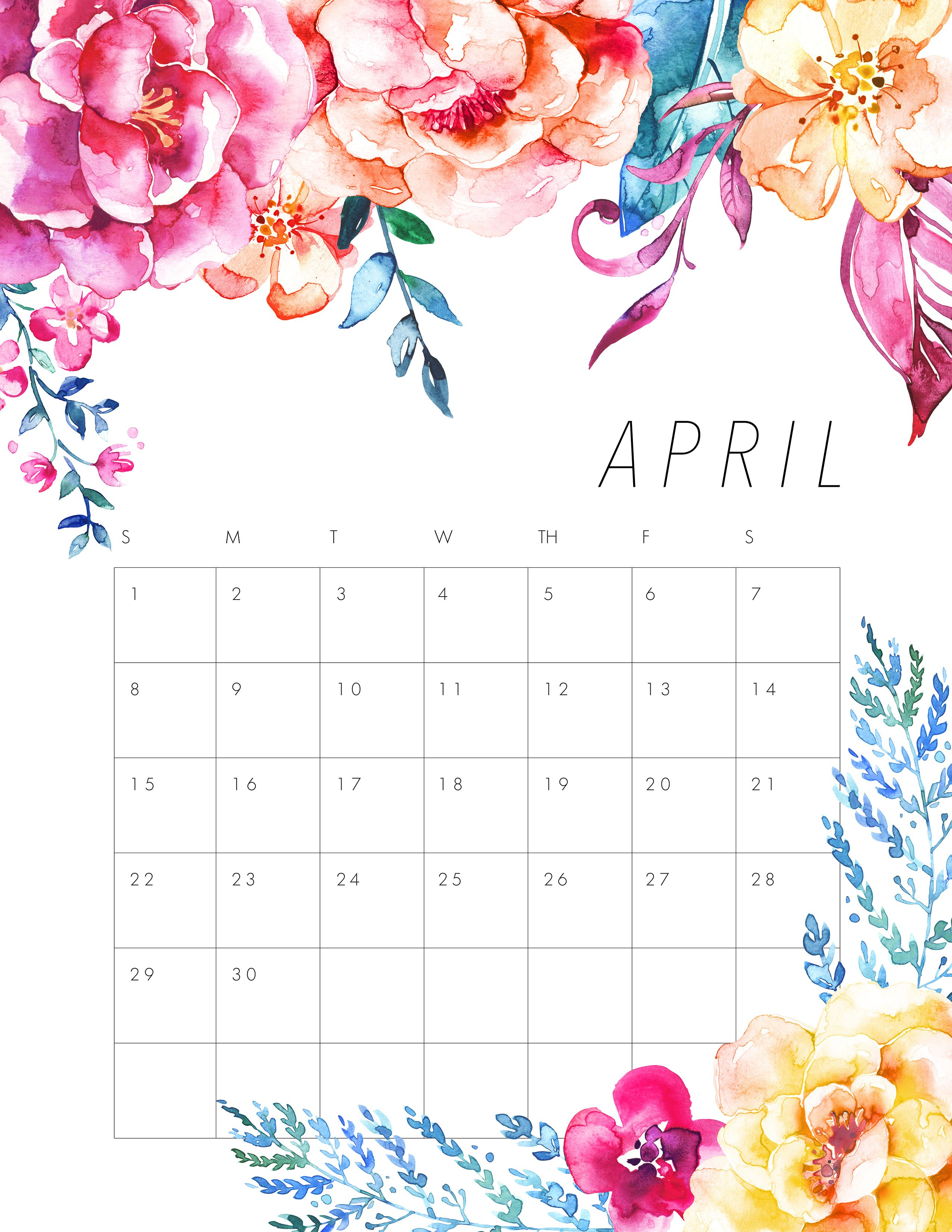 Tcm jpg projects to. Calendar clipart april 2017