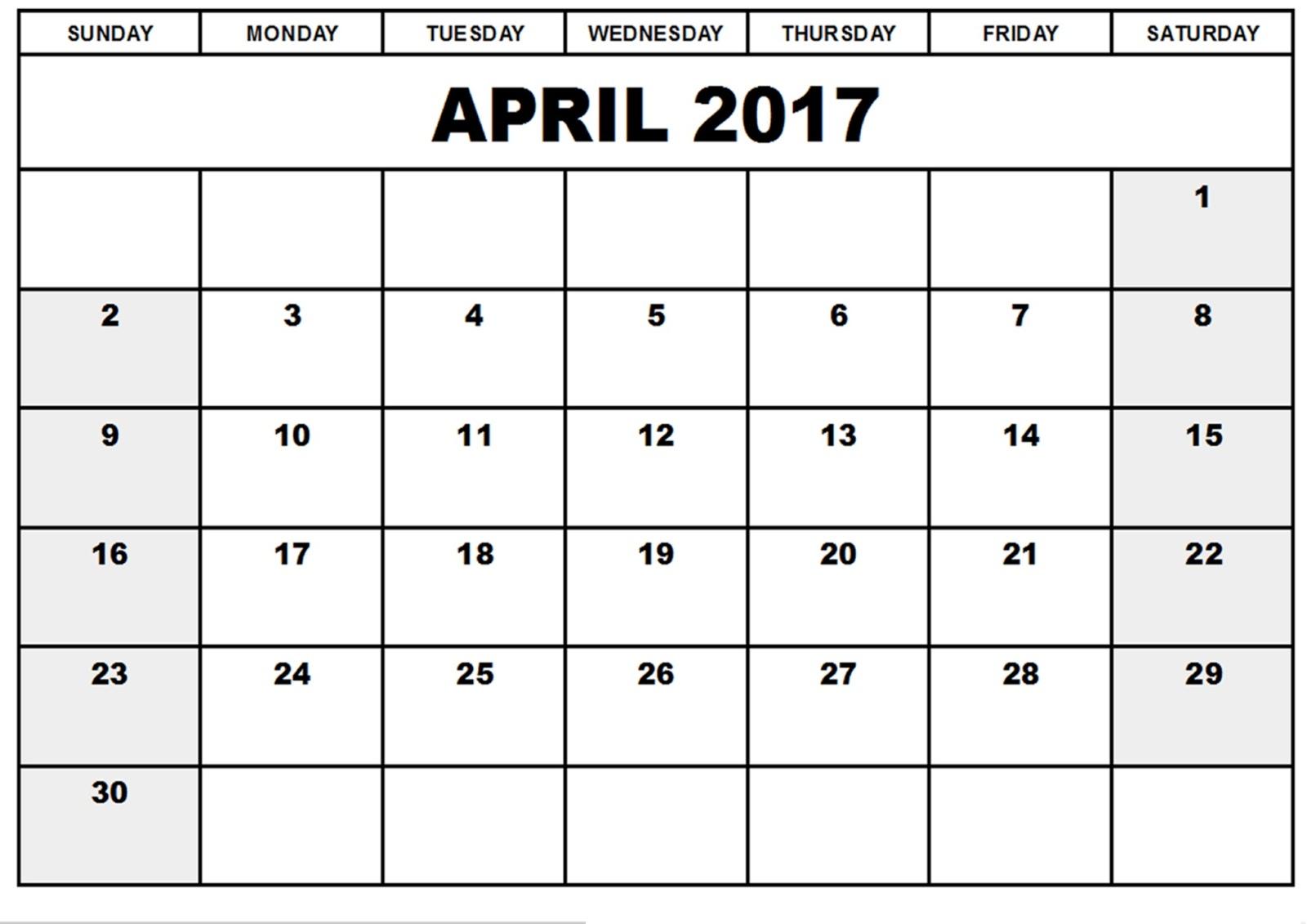Calendar clipart april 2017. Blank incep imagine ex