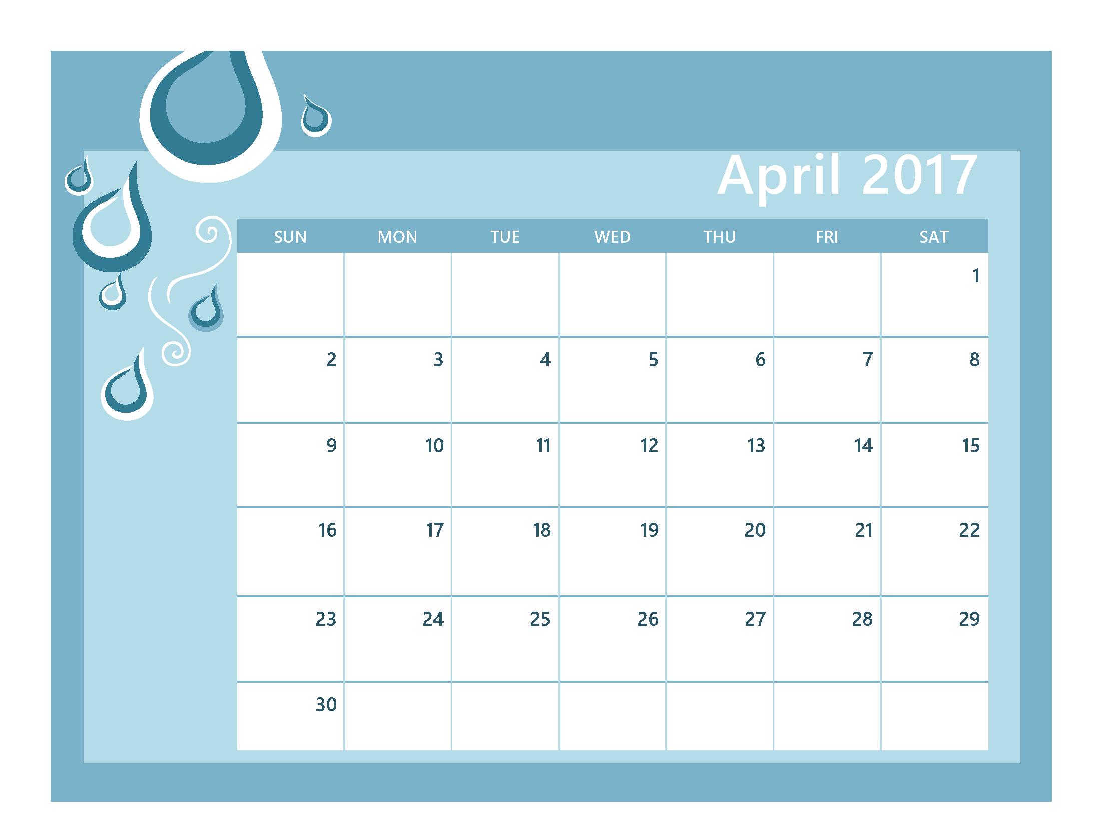 Clip art and images. Calendar clipart april 2017