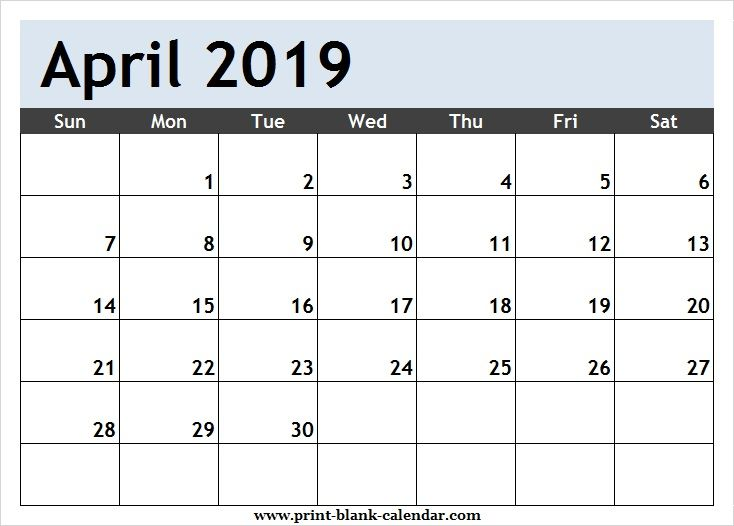 Clipart calendar april 2018. Page printblank october