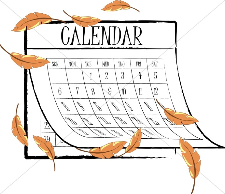 Calendar clipart autumn. Fall leaves christian