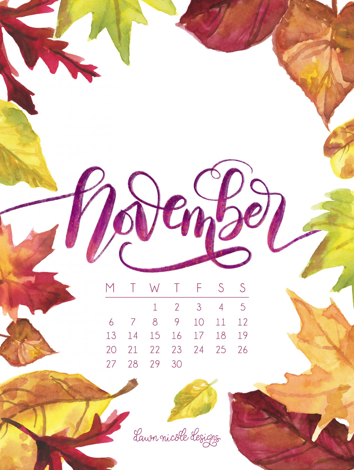 Calendar clipart autumn. November art incep imagine